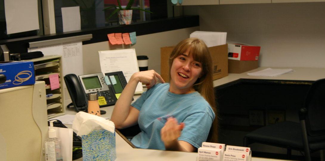 Laura Rudauskas, DRC Front Desk Worker