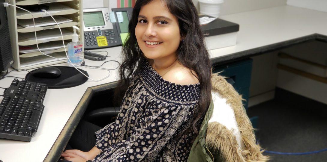 Trishla Shah, DRC Front Desk Worker