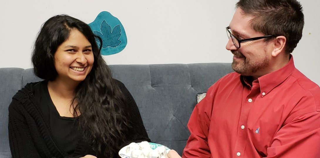 Kevin and Vineeta Celebrating Friendsgiving at the DRC