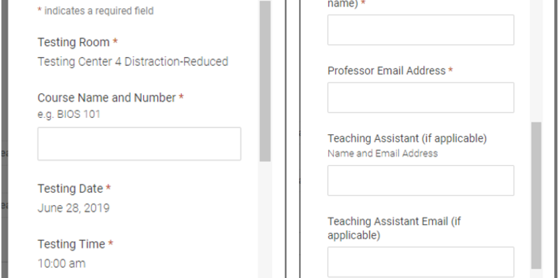 7. Complete the required form fields and hit submit.